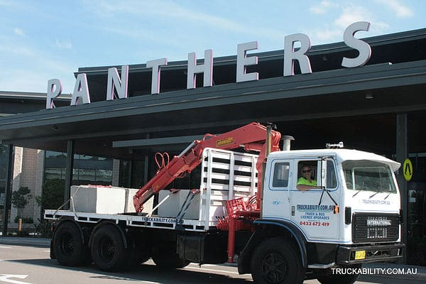 truck in front of panthers